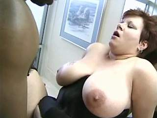 Beautiful plumper slurps cum after fucks