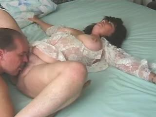 Mature breasty fat mom rides on hard dick